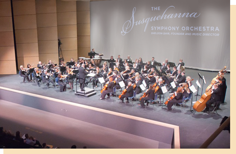 full orchestra on stage